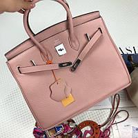 2eefcf61357b Женская шикарная сумка Hermes Birkin 30 см цвет озовая пудра Original  quality