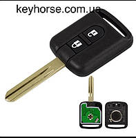 Ключ для Nissan X-Trail, Qashqai, Navara, Micra, Note, NV200, Elgrand (Ниссан) 2 кнопки 433 Mhz с чипом ID 46