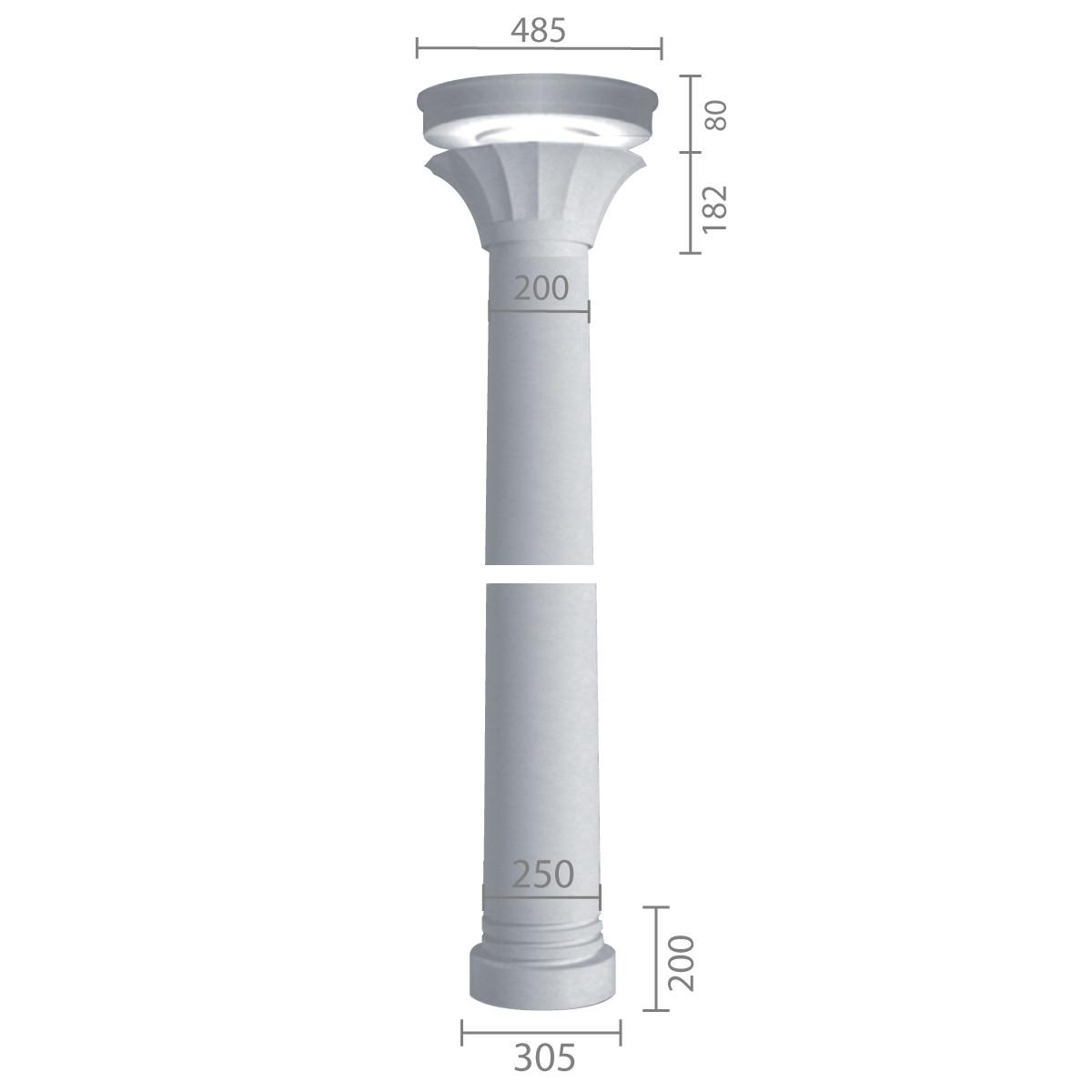 Колонна из гипса ка-39 (энтазис)