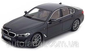Оригинальная модель автомобиля BMW 530i Limousine (G30), 1:18 Scale, Sophistogrey Metallic (80432413789)