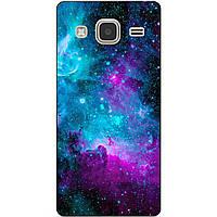 Чехол силиконовый бампер для Samsung Galaxy J3 J300 с рисунком Галактика