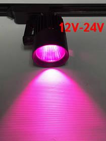 Светодиодный трековый фитосветильник SL-4003F 30W 12-24V DC (full spectrum led) черный Код.59584