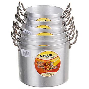Набор кастрюль A-PLUS 12 предметов (0431-0436) Алюминиевых