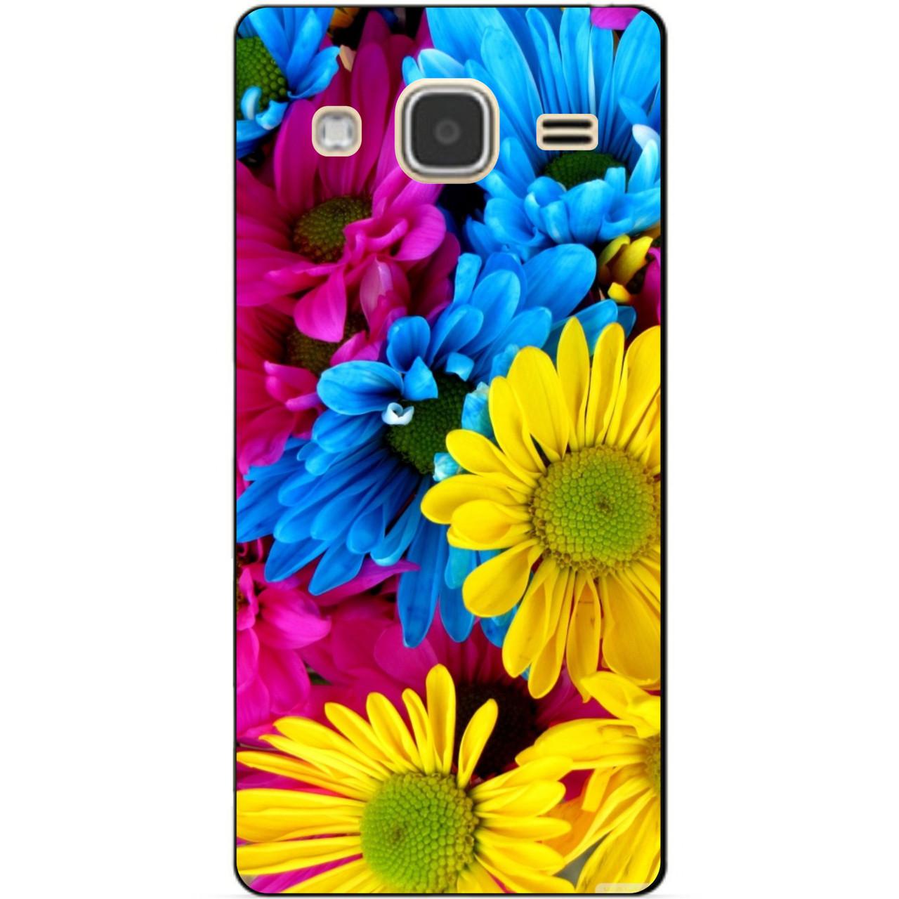 Чохол силіконовий бампер для Samsung Galaxy J3 J300 з малюнком Хризантеми
