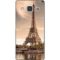Чехол силиконовый бампер для Samsung Galaxy J3 J300 с рисунком Париж