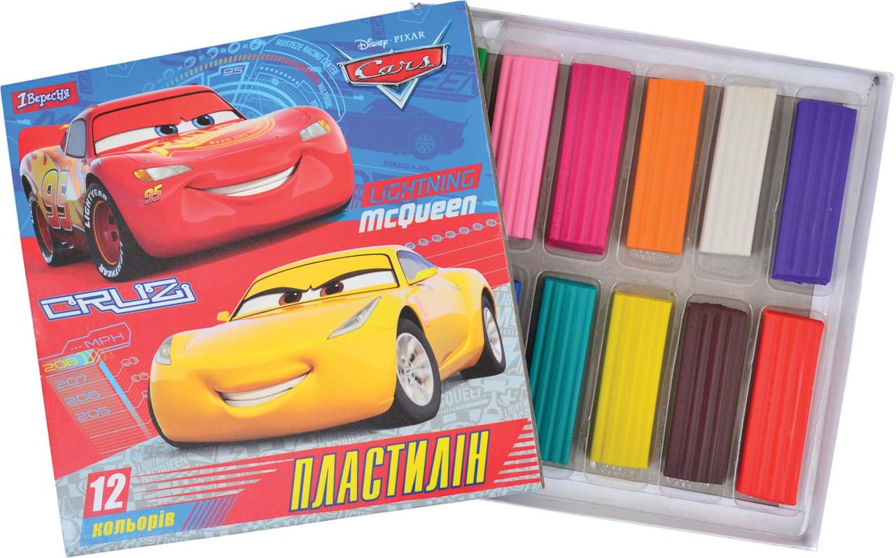 """Пластилін 12 кольорів """"Cars"""""""