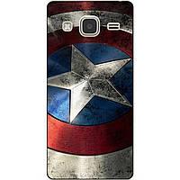 Чехол силиконовый бампер для Samsung Galaxy J3 J300 с рисунком Капитан Америка