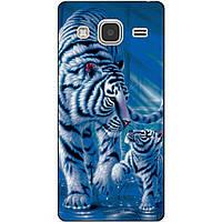 Чехол силиконовый бампер для Samsung Galaxy J3 J300 с рисунком Тигры