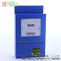 HDMI - AV1080 (Тюльпаны RCA) конвертер адаптер переходник FullHD