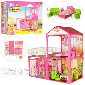 Кукольный домик с мебелью. Размер 81х82х40.5 см., фото 2