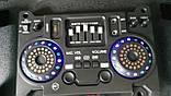 Стерео колонки Wimpex 12 дюймів, 2х200W, Bluetooth, мікрофон, пульт Пара, фото 5