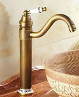 Высокий смеситель для раковины умывальника бронзовый или кухонную мойку G45-2 deco