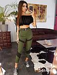 Женские летние брюки повседневные на высокой посадке 6612358, фото 5