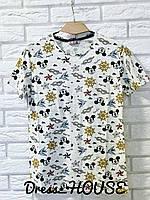 Принтованная женская футболка на лето 517235, фото 1