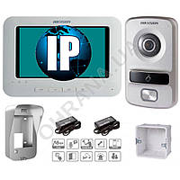 IP комплект видеодомофона DS-KH6310-W + DS-KB8102-VP