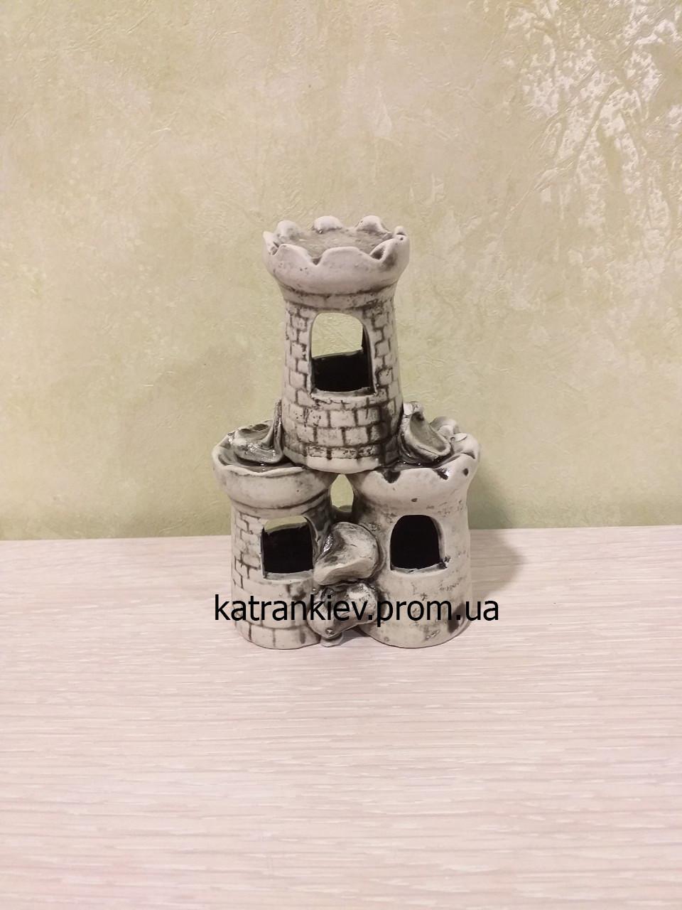 Керамическая декорация в аквариум Замок, Башня с502