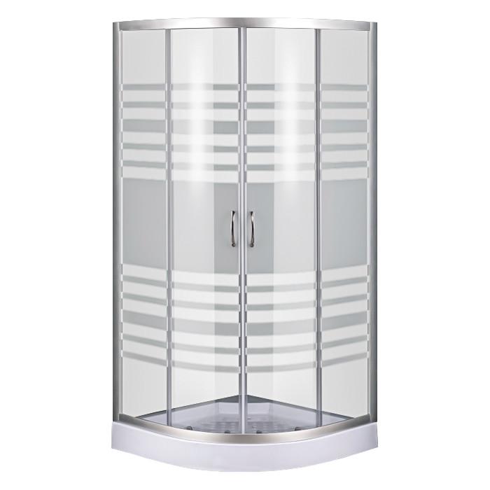 Душевой угол Sansa S-90/15, профиль сатин, стекло прозрачное-lines