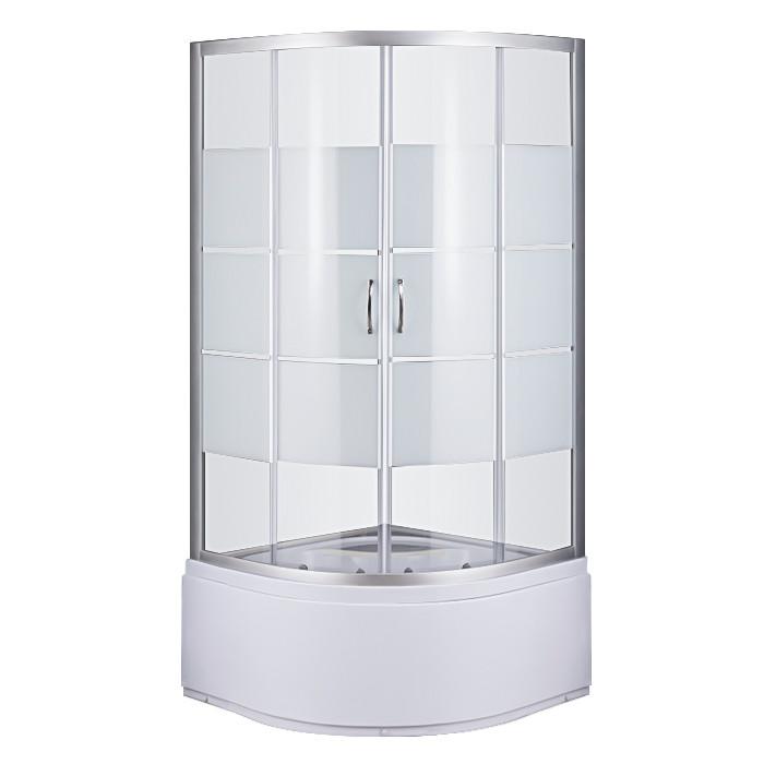 Душевой угол Sansa S-90/40, профиль сатин, стекло прозрачное-lines