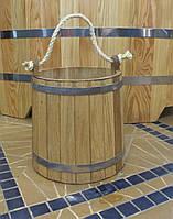 Ведро дубовое для бани, 12 литров