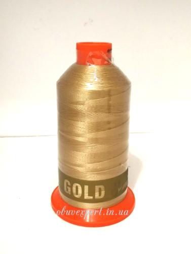 Швейная нить Gold Polydea 40 № 34, бежевый