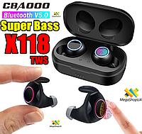 Беспроводные Bluetooth наушники Air Pro TWS X118 Super Bass. Сенсорные наушники X118 TWS CBAOOO