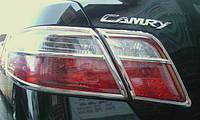 Хром накладки на стопы Toyota Camry 40, Тойота Кемри 40 2006-2011 г.в.