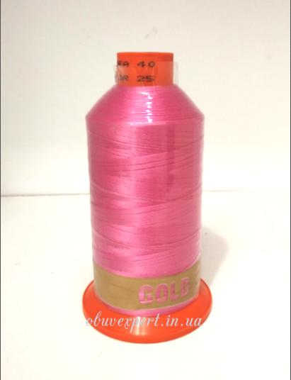 Швейная нить Gold Polydea 40 № 25, цв. розовый