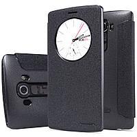 Шкіряний чохол книжка Nillkin Sparkle для LG G4 чорний, фото 1