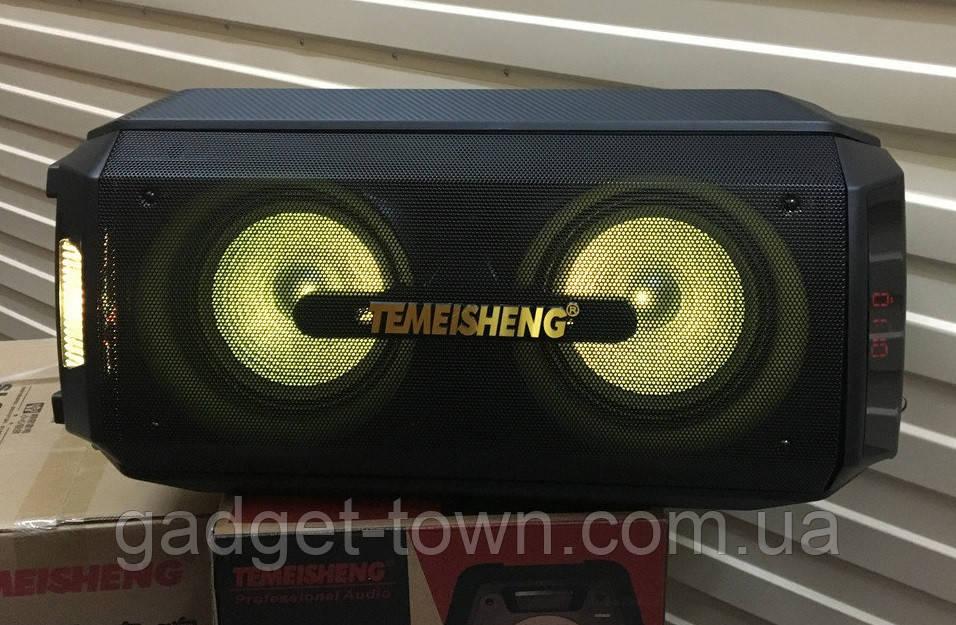 Портативна колонка з мікрофонами TMS208-01 / 150W (USB/FM/Bluetooth) Супер звук!