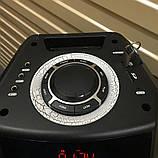 Портативна колонка з мікрофонами TMS208-01 / 150W (USB/FM/Bluetooth) Супер звук!, фото 5