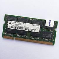 Оперативная память для ноутбука Qimonda SODIMM DDR2 2Gb 667MHz 5300s CL5 Б/У