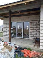 Ламинированные окна в с.Хотяновка, монтаж бригады 9
