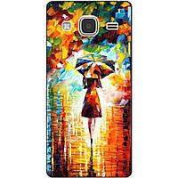 Чехол силиконовый бампер для Samsung Galaxy J3 J300 с рисунком Прогулка