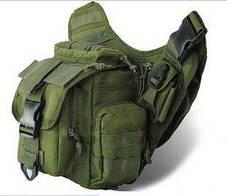 Тактическая сумка мужская через плечо, штурмовая, военная, армейская. рюкзак Oxford 600D зеленая, фото 3