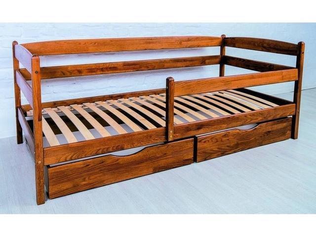 Кровать Микс Мебель Ева с выдвижными ящиками, 900*2000 Бук натуральный