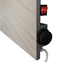Инфракрасный керамический обогреватель Венеция ПКК 1400 120х60 см белый мрамор био-конвектор, фото 3