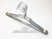 Плечики вешалки тремпеля оцинкованные металлические, длина 400 мм, диаметр 2.2 мм (Вешалки для химчистки)
