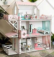 Кукольный домик для Барби NestWood Люкс плюс с лифтом без мебели розовый (kdb002), фото 6