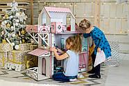 Кукольный домик для Барби NestWood Люкс плюс с лифтом без мебели розовый (kdb002), фото 8