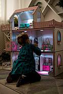 Кукольный домик для Барби NestWood Люкс плюс с лифтом без мебели розовый (kdb002), фото 9