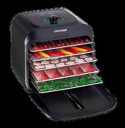 Сушилка для овощей фруктов мяса и трав Concept SO4000 Infra инфракрасный дегидратор 5 сит 500Вт.Чехия
