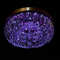 Хрустальная люстра с LED подсветкой на пульте управления на 4 лампочек (золото) P5-E1691/4/FG