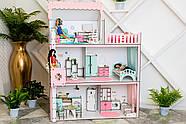 Кукольный домик для Барби NestWood Люкс с лифтом без мебели розовый (kdb003), фото 4