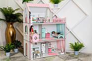 Кукольный домик для Барби NestWood Люкс с лифтом без мебели розовый (kdb003), фото 5