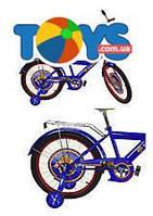 Велосипед 2-х колесный 16'' со звонком + страховка, 181608