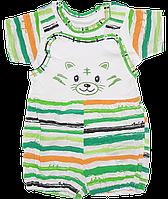 Песочник-майка+футболка, хлопок (кулир), ТМ Ромашка, р. 74, 80, 86, 92, Украина, фото 1