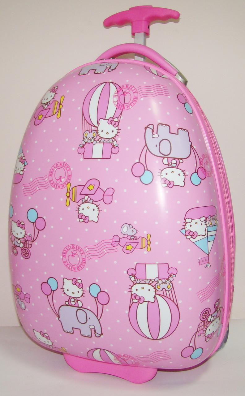 """Дитячий пластиковий валізу на колесах """"Кітті"""" 47*31*25,5 см"""