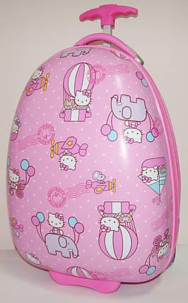 """Дитячий пластиковий валізу на колесах """"Кітті"""" 47*31*25,5 см, фото 2"""
