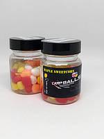 Плавающая силиконовая кукуруза CarpBalls в дипе, 40шт/уп. Maple Sweetcorn