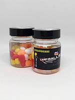 Плавающая силиконовая кукуруза CarpBalls в дипе, 40шт/уп. Strawberry